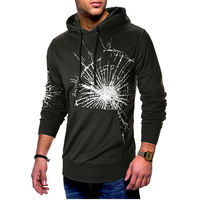 Casual Street Cap Web Print Spider Top Jacket Coat Personality Style Men Teen Street Style Teen Spider Web Print Coat Jacket