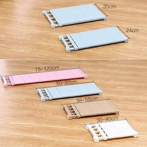 Image 5 - Adjustable Closet Organizer Storage Shelf Wall Mounted DIY Wardrobe/Clothes/Kitchen Storage Holders Racks Plastic Layer/Dividers