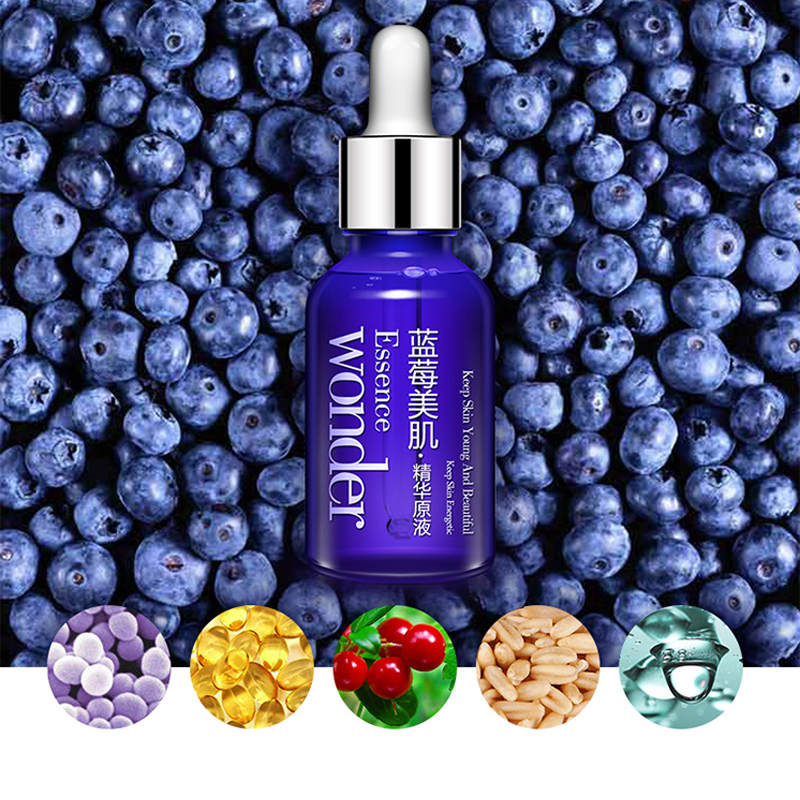Blueberry Facial Toner Water Enriched Nourishing Face Care Nutrition Hydrating Moisturizing Whitening Tonic Liquid 15 Ml Essence