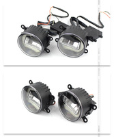 Auto LED Daytime Light Angel Eye Fog Light Cross border Cargo Source