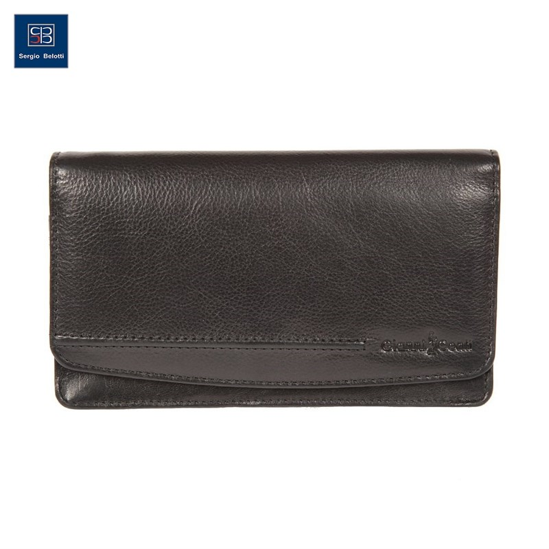 Coin Purse Gianni Conti 708203 black simline vintage genuine crazy horse cow leather men men s long hasp wallet wallets purse zipper coin pocket holder with chain