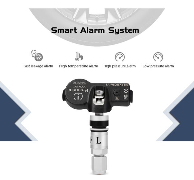 USB Android TPMS Car Tire Pressure Monitoring System Display Internal Sensors Android Navigation Tyre Pressure Alarm 0-116Psi