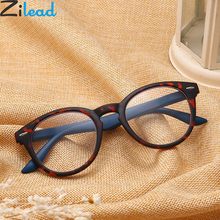 Zilead Retro Leopard Oval Frame Reading Glasses For Men&Women Clear Lens Presbyopia Eyeglasses Eyewear With Diopter+1.0to4.0