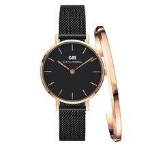 Для женщин часы лучший бренд класса люкс ультра тонкий золото Сталь Механические часы Женское платье 32 мм обувь для девочек dw Стиль Мода кварцевые