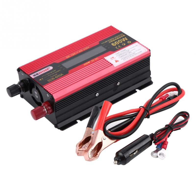 600W DC12V to AC220V Car Modified Power Inverter Converter with LCD Display Screen Car Power Inverter