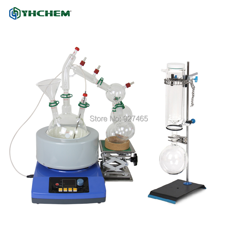 YHChem New 2L Short Path Kit /Magnetic Stirring Heating Mantle & Glassware & Cold Trap/AccessoriesYHChem New 2L Short Path Kit /Magnetic Stirring Heating Mantle & Glassware & Cold Trap/Accessories
