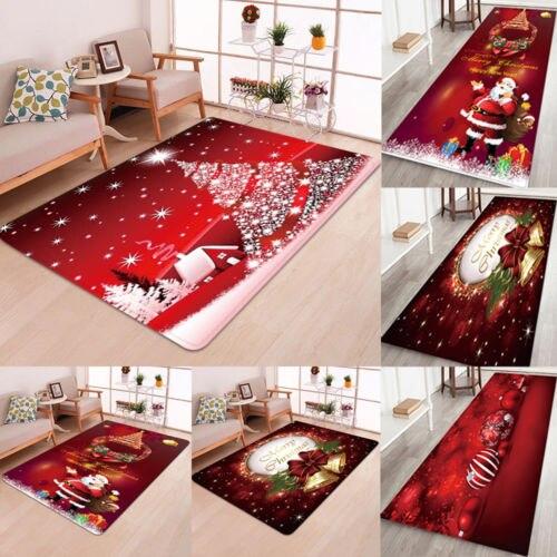 Christmas Santa Claus Anti-slip Kitchen Room Floor Mat