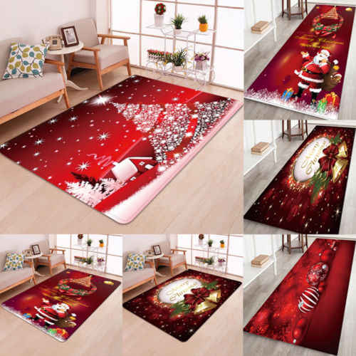 Christmas Santa Claus Anti-slip Kitchen Room Floor Mat Decor Carpet Rug NEW UK