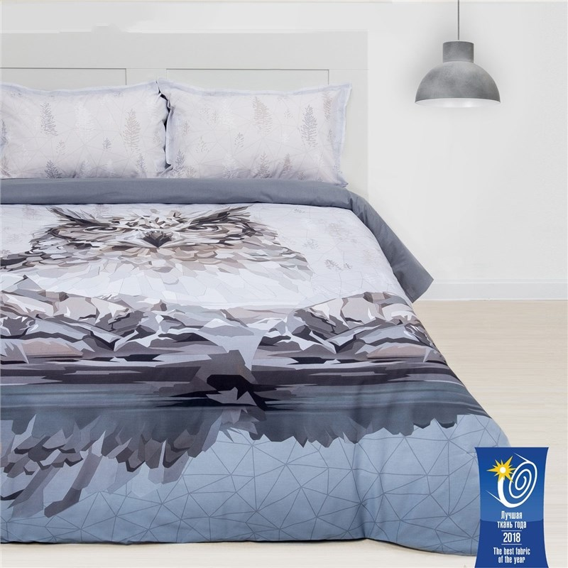 Bed Linen Ethel 2 CH Owl 175х215 cm, 200х220 cm, 50х70 + 3 cm-2 pcs, ранфорс 111g/m2 a new 10 inch ch 1096a1 fpc276 v02 rx14 tx26 cm touch screen digitizer sensor replacement parts 236x167mm
