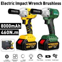 68V Electric Brushless Cordless Impact Wrench 8000mAh 2 Batteries 1 Charger 460N.m High Torque Electric Wrench Power Tools