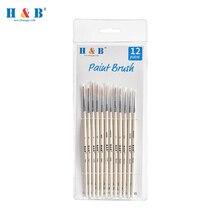 Particolare Vernice Brush Set In Miniatura di Nylon Dei Capelli Paintbrushes per Fini Dettagli Acrilico/Acquerello/Arte Della Pittura A Olio