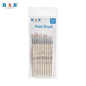 Image 1 - Pincéis diminutos ajustados da escova da pintura do cabelo de náilon do detalhe para a pintura fina acrílica/aquarela/óleo da arte