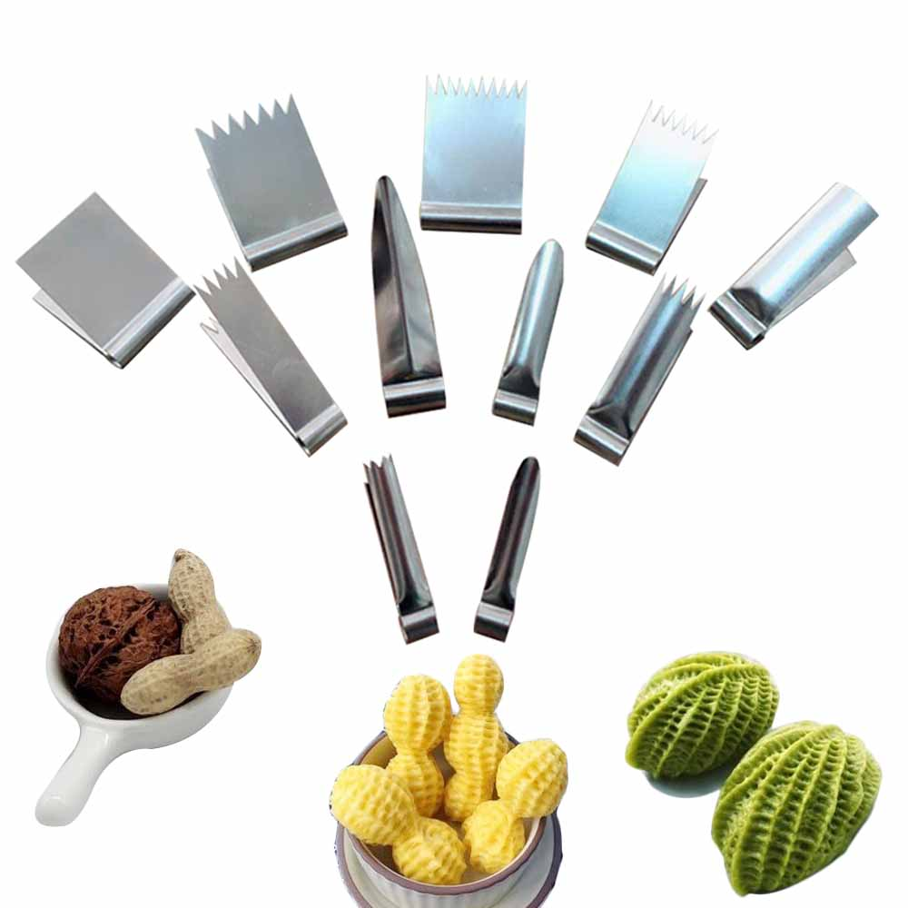 Clips Peanut-Molds Pastry Dessert Decoration Baking Bread KHGDNOR Stainless-Steel Walnut