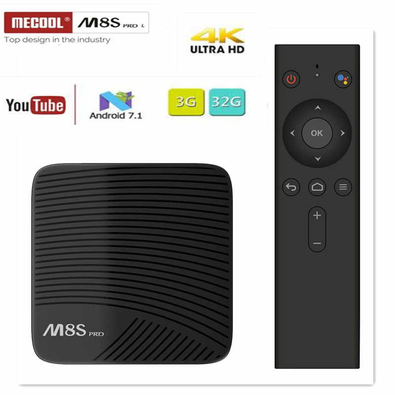 M8S PRO L tv BOX Android 7,1 Amlogic S912 3GB 16GB 32G комплект bluetooth-Top Box Голосовое управление 3D 4K HD Smart медиаплеер