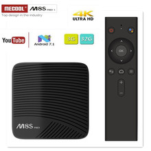 MECOOL M8S PRO L TV BOX Android 7.1 Amlogic S912 3GB 16GB 32G Bluetooth Set-Top Box Voice Control 3D 4K HD Smart Media Player