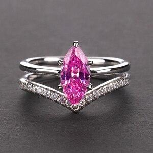 Image 2 - Pansysen 100% Authentieke 925 Sterling Zilver Mariquesa Vorm Natuurlijke Amethist Ringen Voor Vrouwen Wedding Anniversary Gemstone Ring