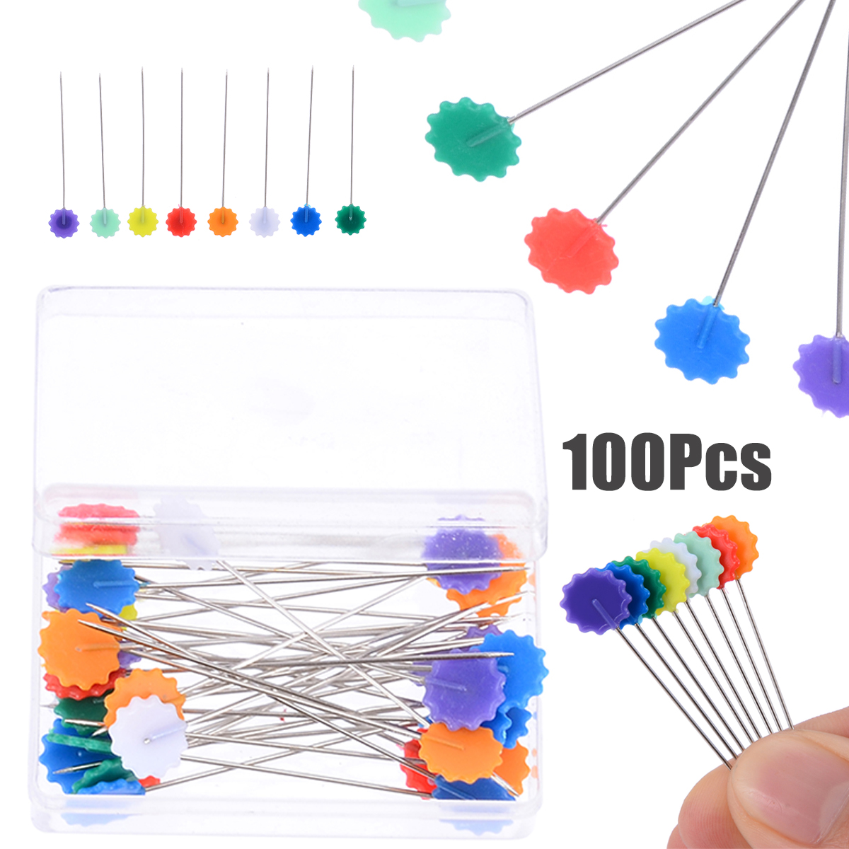 85pcs Clear Quilting Pins Artificial Diamond Head Sewing Pins for DIY Craft