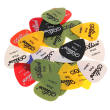 24pcs Plastic Guitar Picks Mediator Plectrums with Pick BoxVarious Colors Acoustic Electric Guitar Bass Accessories professional solid top acoustic electric bass guitar with turner