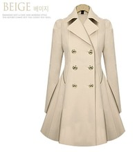 цена на Women Slim Coat, Long Sections Woolen Coat Double Breasted Thick,plus-size Ladie's Fashion