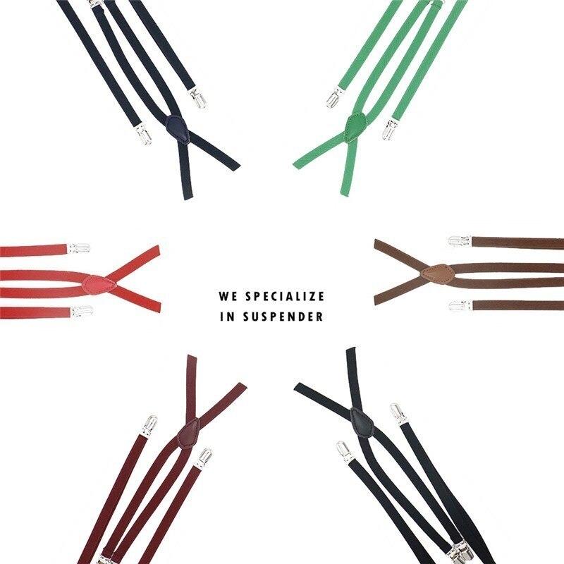 1cm Width X Back Creative Unisex Women's Skinny Suspender Handmade Brace Cutie Creative Slim Thin Body