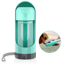 Dog Water Bottle Leak-Proof Portable Bowl Durable BPA Free Pet Dispenser with Activated Carbon Filter