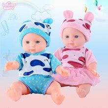 Logeo Baby bebes reborn doll black Rapunzel Reborn Doll clothes kits Lifelike Soft Newborn lol Toys Gift 30CM