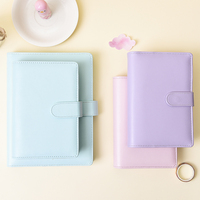 A5 A6 Loose leaf Notepad Macaron Candy Color Multifunctional Handbook Loose leaf Notebook Spiral Binder Stationery For School