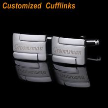 Personalized laser engraved modern CuffLinks for Men