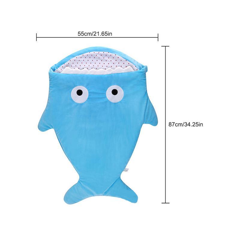 Infant Sleeping Bag Shark Shape Sleeping Bag Cartoon Anti-kick Is Autumn And Winter Newborn Baby Out Of Cotton Creative Gifts