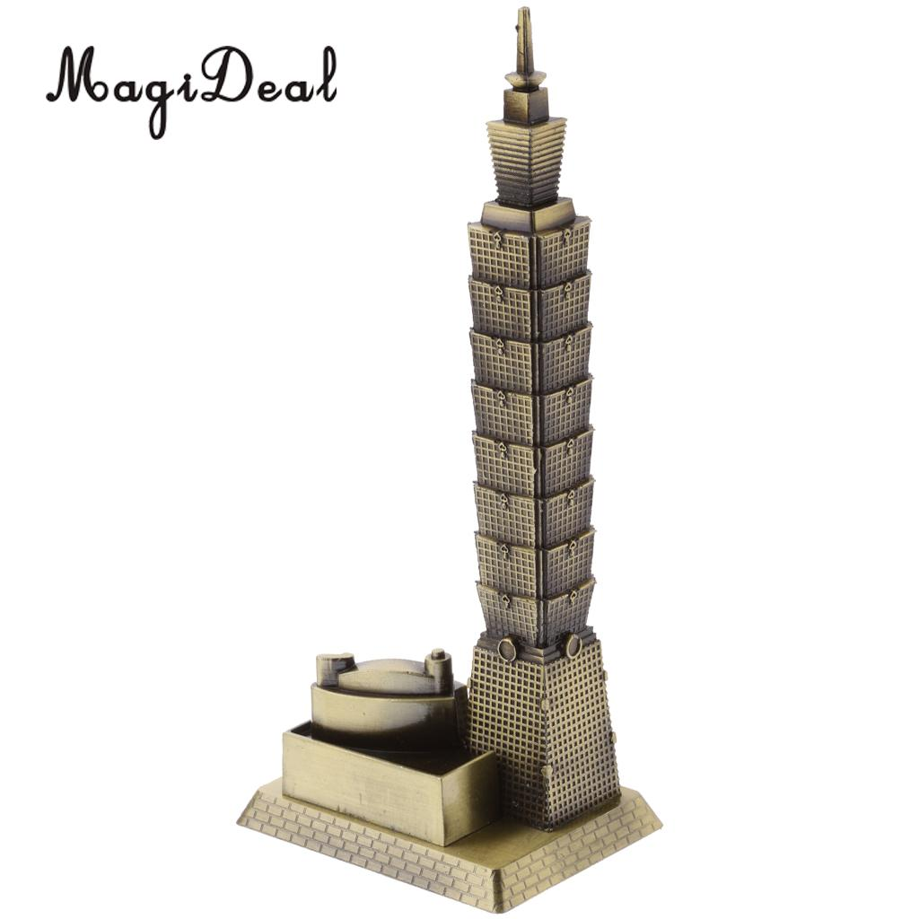 MagiDeal Taipei 101 Tower Building Architecture Model of Taiwan Desktop Ornament for Bedroom Home Bars Cafes Restaurants(China)