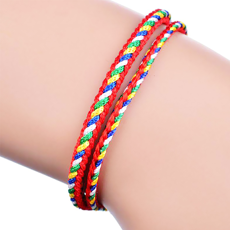 Frank Cute Auspicious Omen Five-colored Ropes Bracelets Knit Couples 10pcs/pack Lovers Lucky Adjustable Drawing Thin Valentines Gift Bracelets & Bangles Charm Bracelets