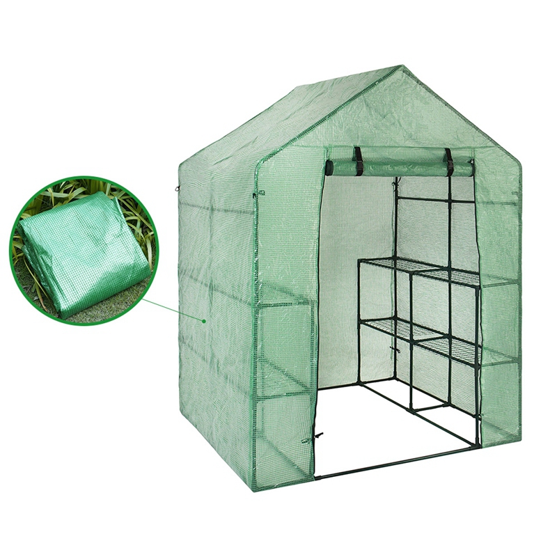 143*73*195cm Large Portable Plastic Garden Greenhouse Cover Not Include Shelf For 2 Layer Mini Walk In Greenhouse Outdoor
