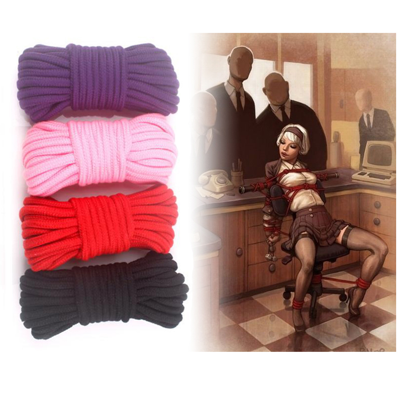 Sex Slave Bondage Rope Soft Cotton Knitted Rope BDSM Restraint Sex Toys For Couple Women Man Exotic Toys Roleplay 5M 10M 20M