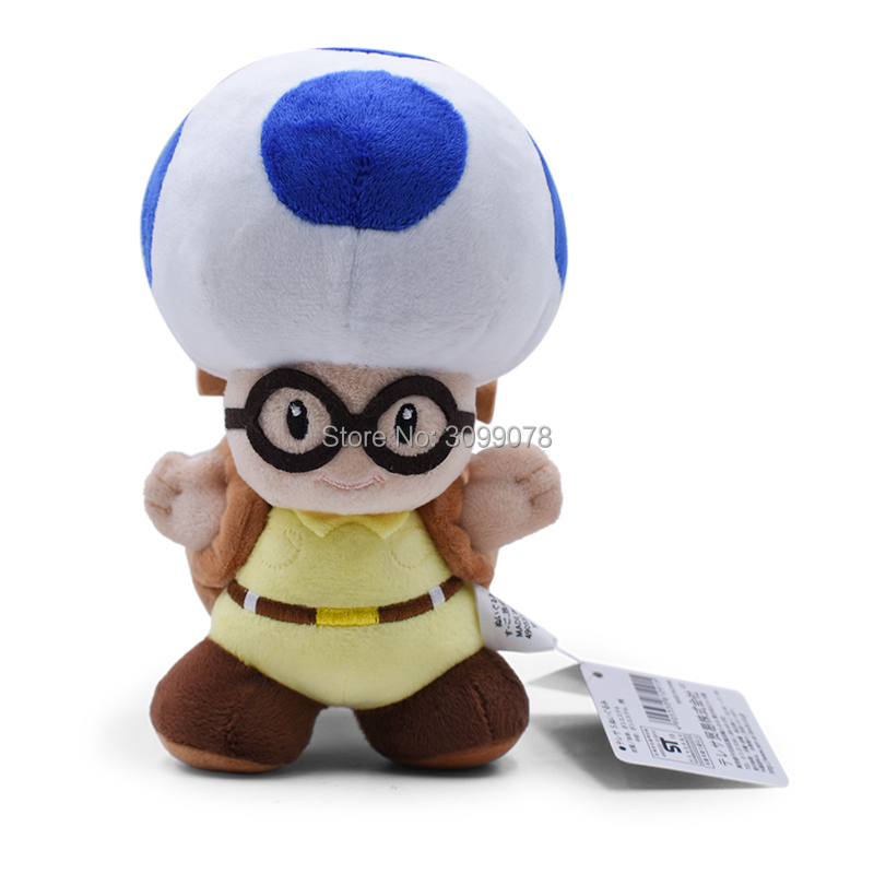 20CM Super Mario Plush Toys Mushroom Captain Toad Toadette Stuffed Dolls Plush Treasure Tracker Backpack For Baby Gifts 2