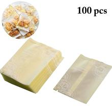 100PCS Lace Scrub Packaging Cookie Candy Bag Cello Multi-Purpose Frosted Cellophane For Treat