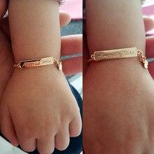130607bd22b0 Amor de madre bebé pulseras de oro joyería de los niños bautizo brazalete  Pulseira Bebe niñas Bileklik Branzoletki Dzieci B01Mae