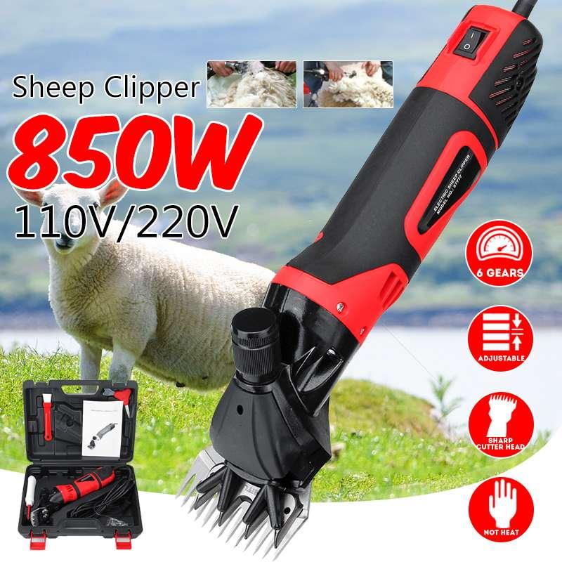 850 W 110 V/220 V ferme électrique mouton chèvre cisaille tondeuse cisaille coupe laine ciseaux pas chaleur efficace vitesse réglable