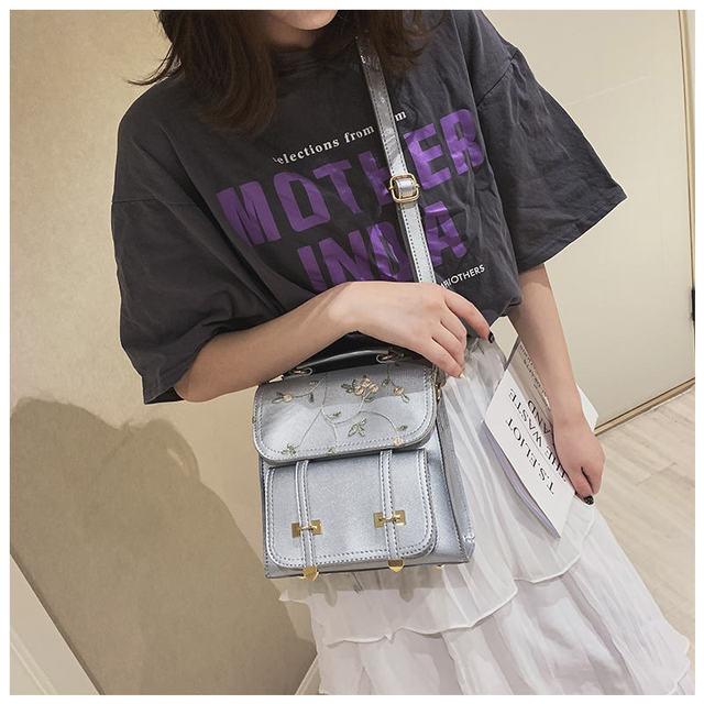 MARFUNY Fashion School Backpack Teenage Girls High Quality Leather Women Shoulder Bag Backpack Floral Embroidery Design Rucksack