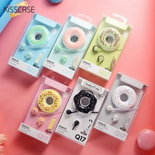 KISSCASE Cute Donut Style Earphones Candy Color Kids Headset Earphone for Mp3 Smartphone Girl Children PC Laptop