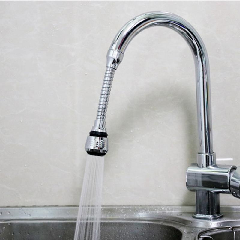 Rotatable Faucet Bubbler Aerator Kitchen Faucet Bubbler Shower Lengthener Water Saver Splashproof Spout Mouth Faucet Filter