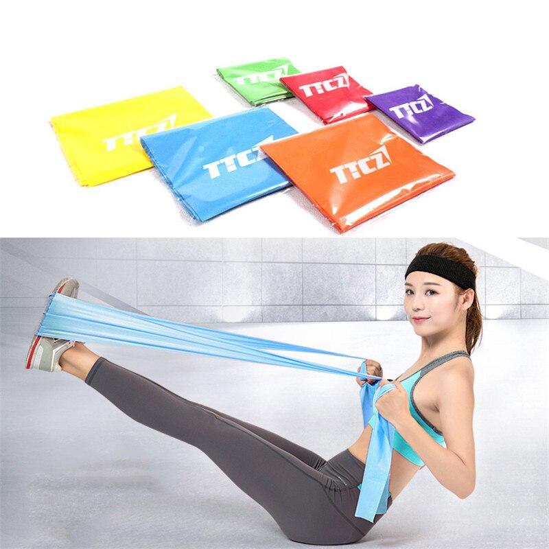 elastisch Yoga Band Pilates Gummi Stretch Widerstand Training Fitness Band Sport