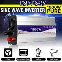 Inverter 12 V/24 V Zu 220V Reine Sinus Welle Inverter Led-anzeige Konverter Transformator Peaks Power 1000W für Auto Home