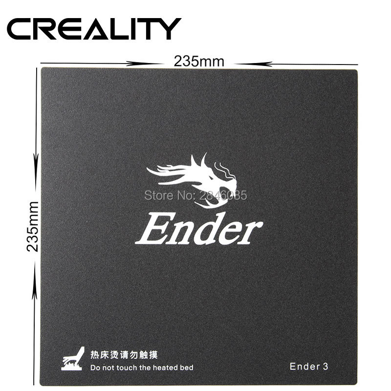 Factory Supply 3D Printer Black Build Surface With 3M Sticker 3D Printer Heated Bed Sheet For Creality Ender-3 220*220mm