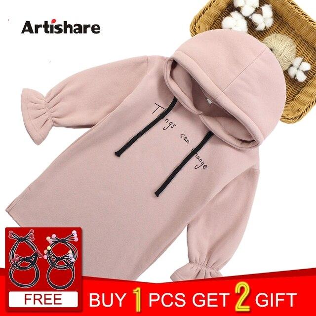 Платья для девочек с буквенным принтом, платья для девочек с капюшоном, плотное теплое зимнее платье для девочек-подростков, костюм для детей 6, 8, 10, 12, 13, 14 лет