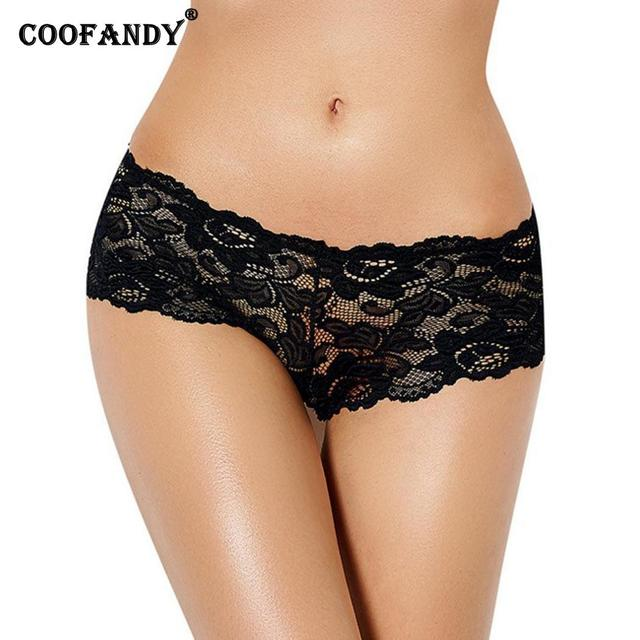 65ecc2fc9a8 Waist Boyshort Red Casual Panties Lace Through See Elastic Wine Panty Floral  White Black Sexy Summer Women