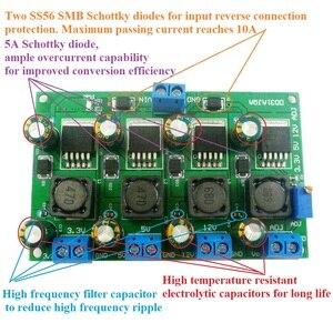 Image 5 - 3A 4 kanal çoklu anahtarlama güç kaynağı modülü 3.3V 5V 12V ADJ ayarlanabilir çıkış DC DC adım buck dönüştürücü kurulu