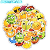 30 PCS Emoji Funny Sticker Emoticon Smile Face Cute Cartoon Decals Sticker Kids Toys to DIY Car Scrapbook Laptop Fridge Guitar