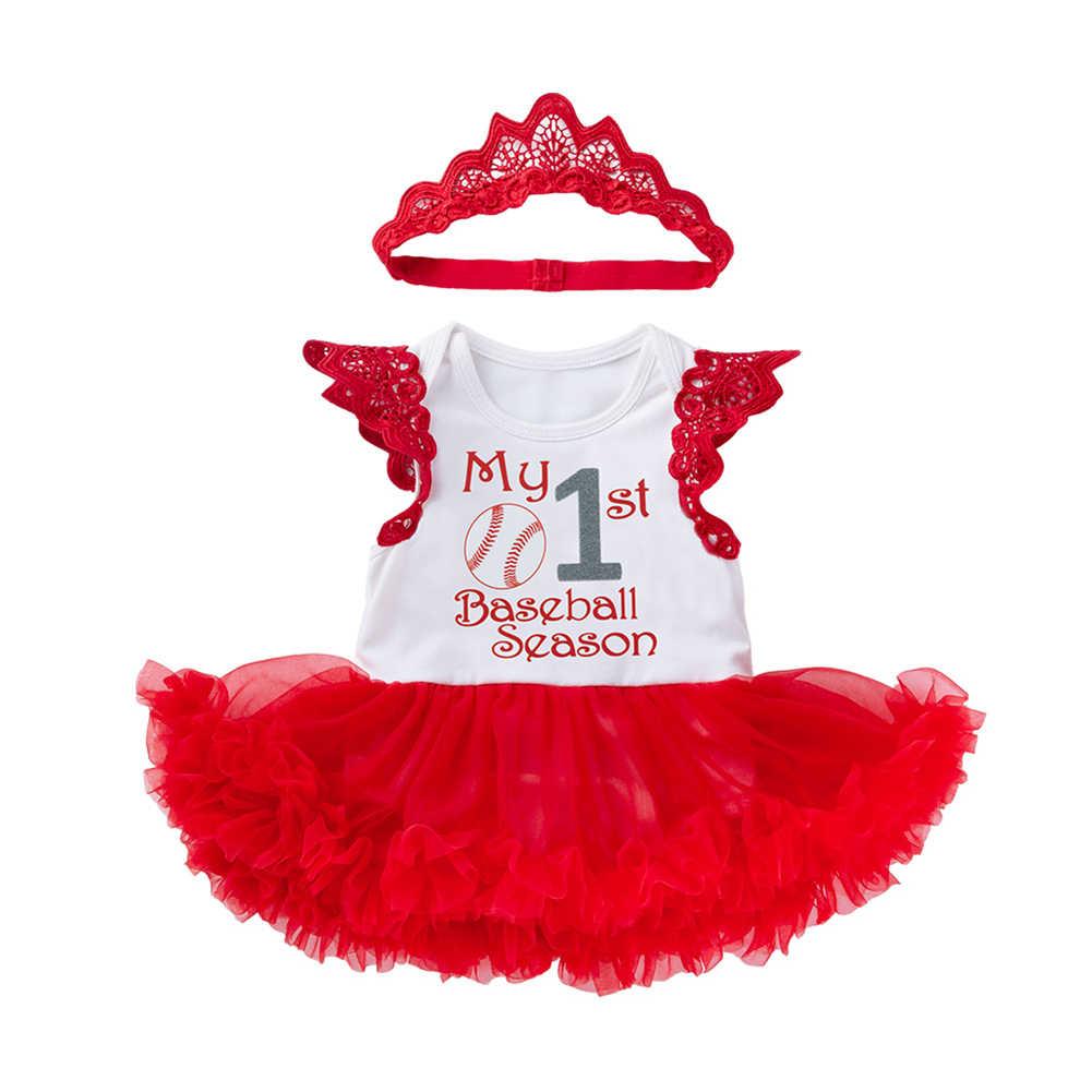 Bé toddler kid cô gái mới 0-2 T cotton không tay ren tutu ăn mặc quần áo phim hoạt hình cánh ăn mặc + Headband mummy daddy phù hợp với cơ thể