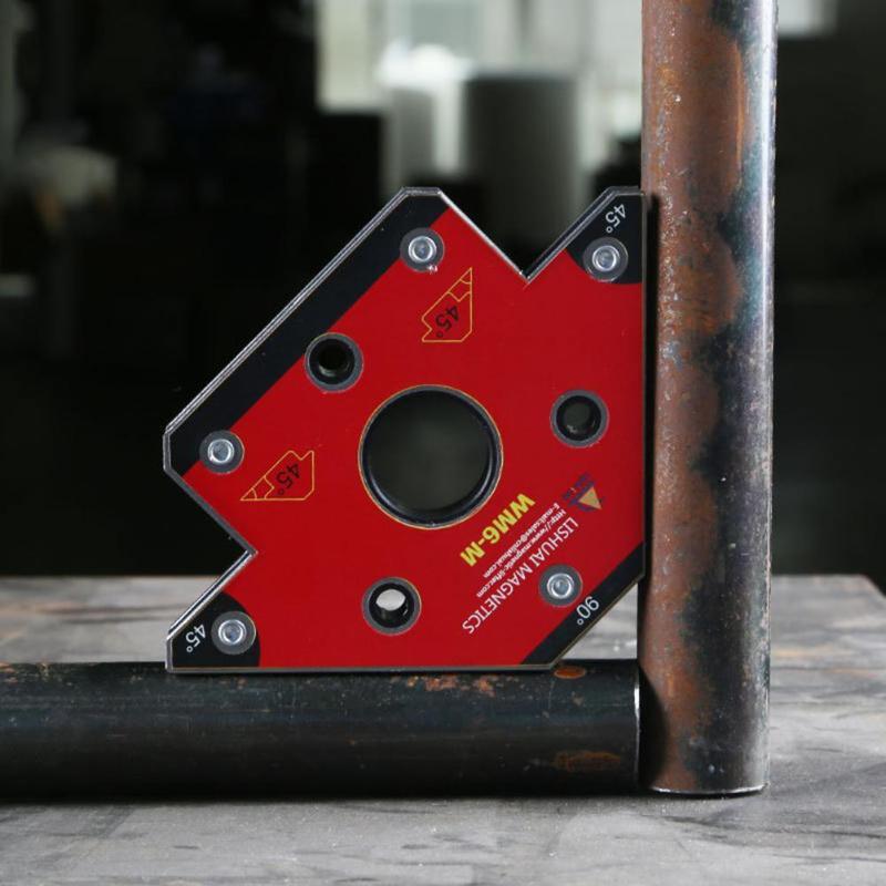 Стрелочный Магнитный сварочный держатель сварочный приспособление Nd-Fe-B Угловые сварочные магниты прямоугольный зажим сварочный держател...