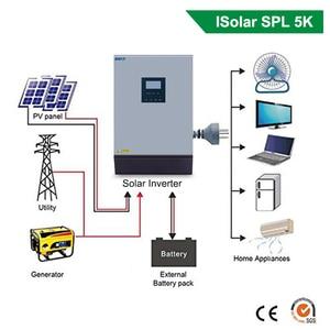 Image 2 - 5KVA 4000W güneş hibrid invertör saf sinüs dalga 220VAC çıkış güneş invertör dahili PWM 48V 50A güneş şarj regülatörü